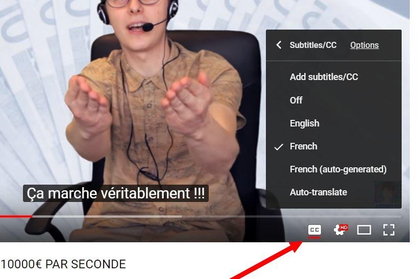 Activer YouTube CC Comment télécharger une vidéo YouTube avec ses sous-titres en ligne
