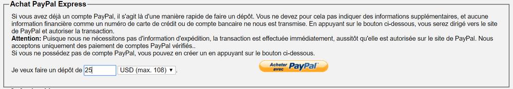depot paypal Acheter des bitcoins rapidement, sans vérification avec PayPal