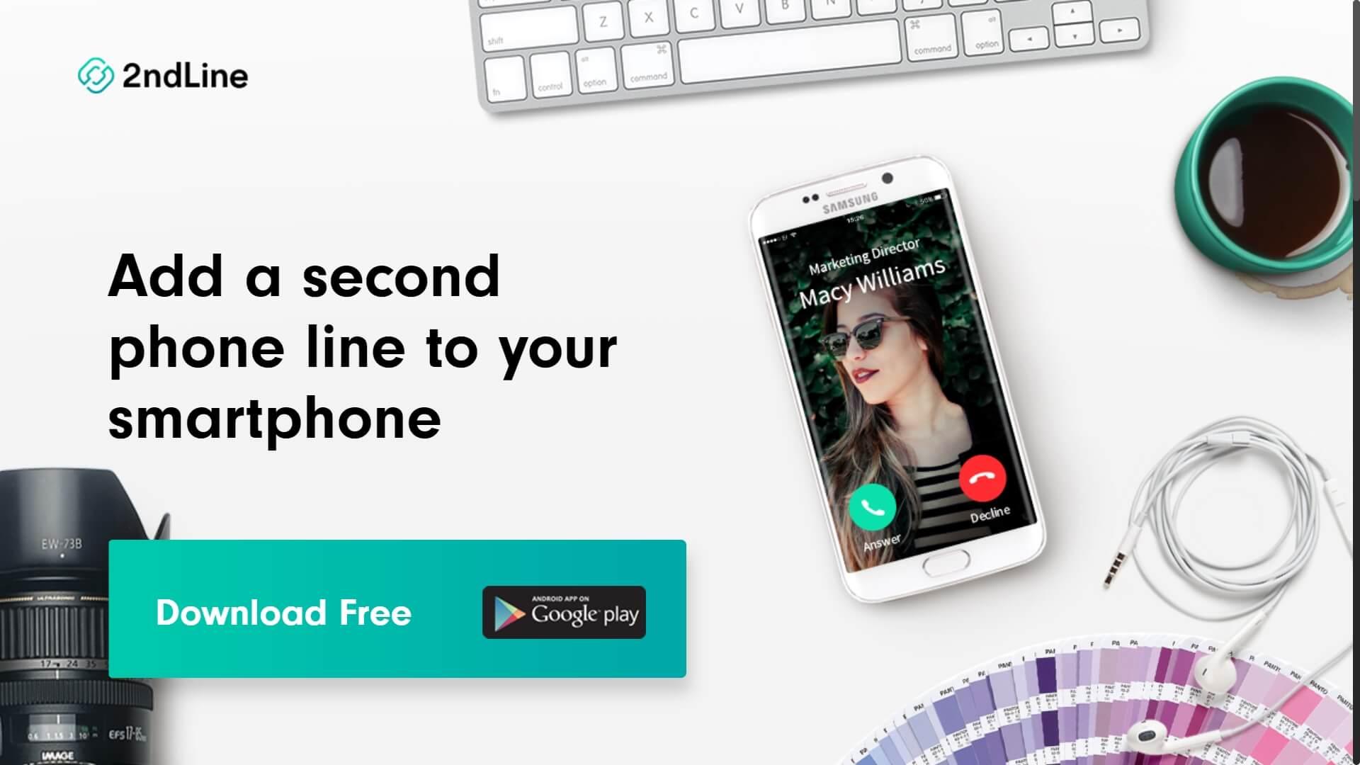Télécharger 2ndLine APK pour avoir un numéro virtuel gratuit USA