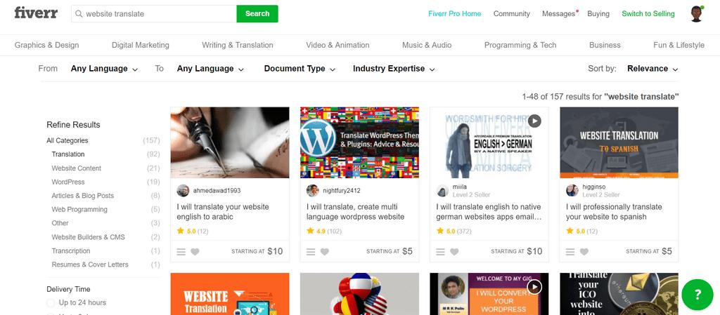 Fiverr Website Translate Les meilleurs sites pour gagner de l'argent qui paient via Payoneer