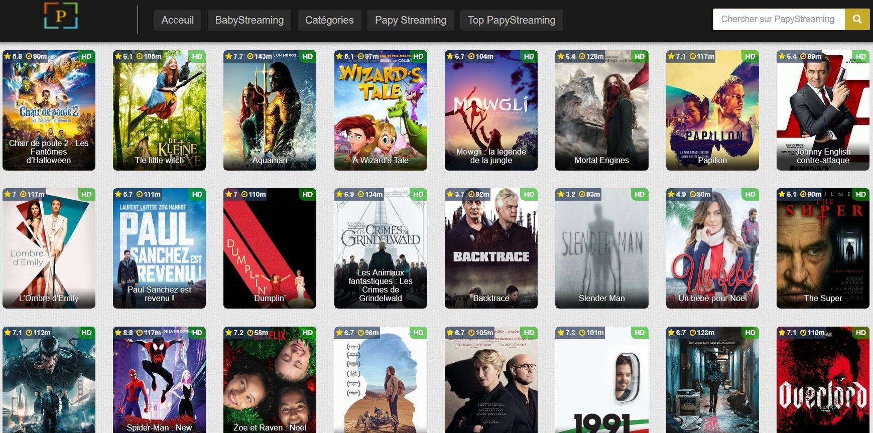 PapyStreaming Les Sites de Streaming Gratuits pour voir les Films et Séries en Français