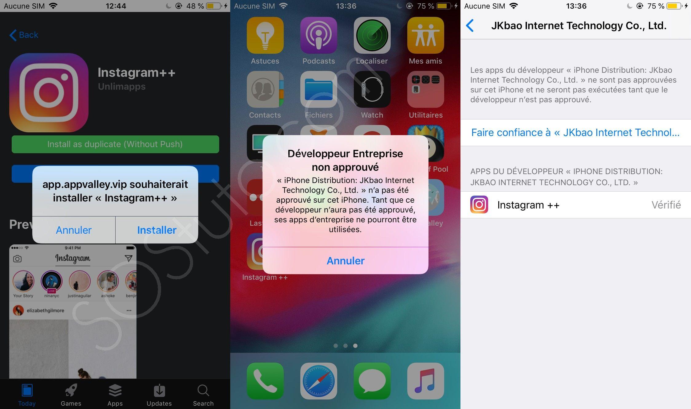 developpeur entreprise non approuvé iphone