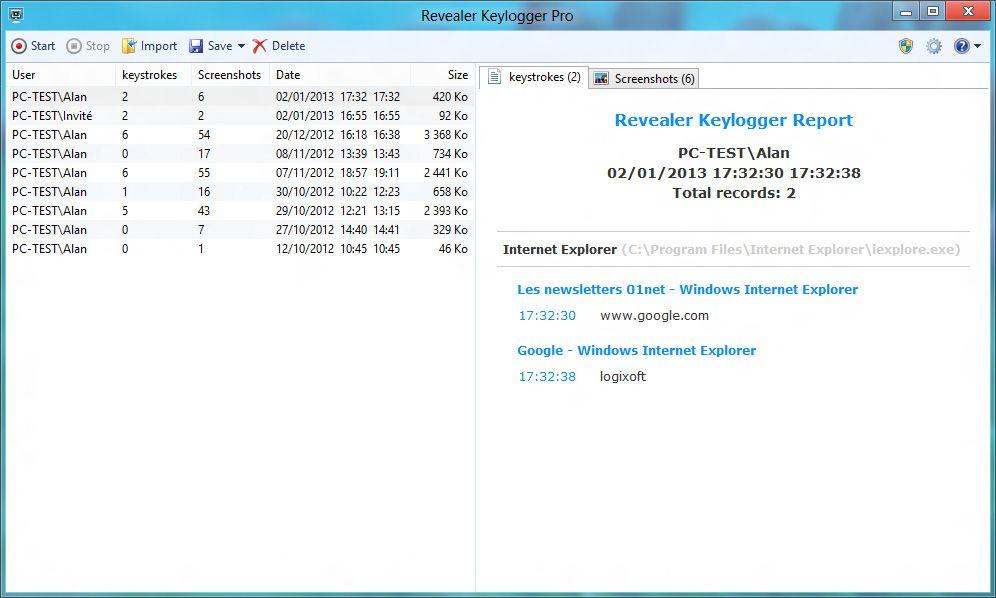 logiciel espion revealer