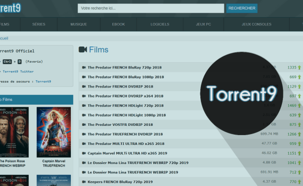 Nouvelle Adresse Torrent9 Proxy Nouvelle Adresse Torrent9 – 6 Meilleurs Sites Miroirs & Clones de Torrent9