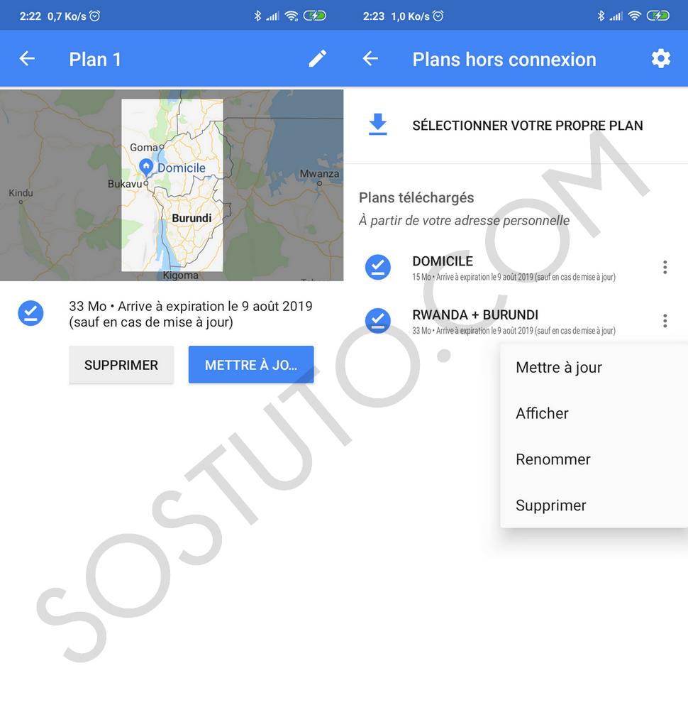 Tous les plans hors connexion Comment Télécharger un Plan pour utiliser Google Maps Hors-ligne
