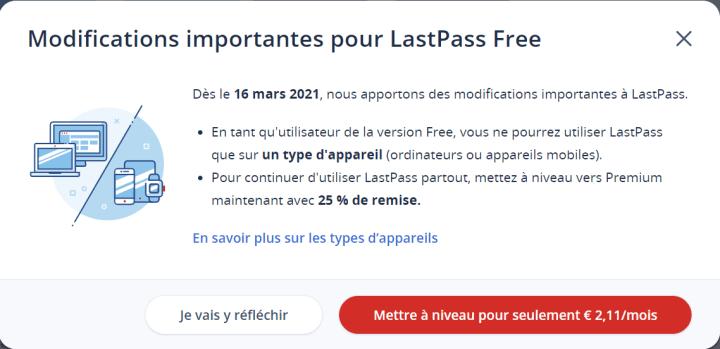 LastPass Compte Gratuit 720x349 Top 7 Alternatives à LastPass – Les Meilleurs Gestionnaires de Mot de Passe Gratuits