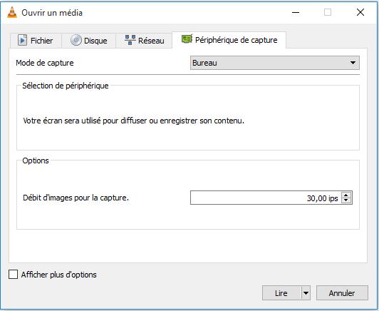 Ouvrir un peripherique de capture Comment Filmer son Ecran de PC Gratuitement avec VLC Media Player