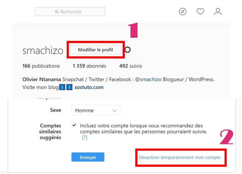 Desactiver temporairement mon compte Instagram Comment Supprimer un Compte Instagram sur iPhone /Android /PC sans application