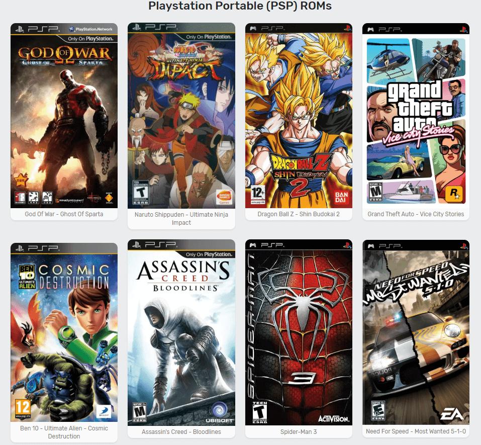 Download PSP ROMS Gratuit Télécharger Des Jeux PSP Gratuitement et Facilement (Pour l'émulateur PPSSPP)