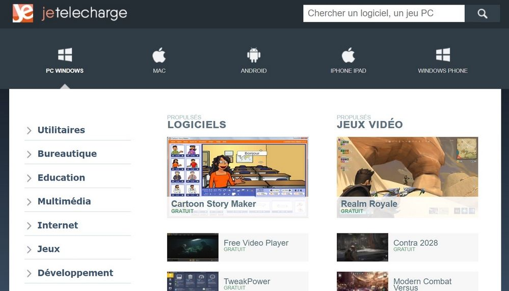 Jetelecharge Les Meilleurs Sites de Téléchargement des Logiciels Gratuitement