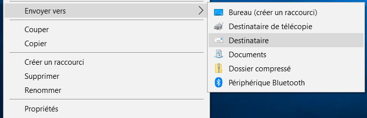 Envoyer vers Destinaire Comment Redimensionner des Images par Lot sur Windows 10 sans Logiciel