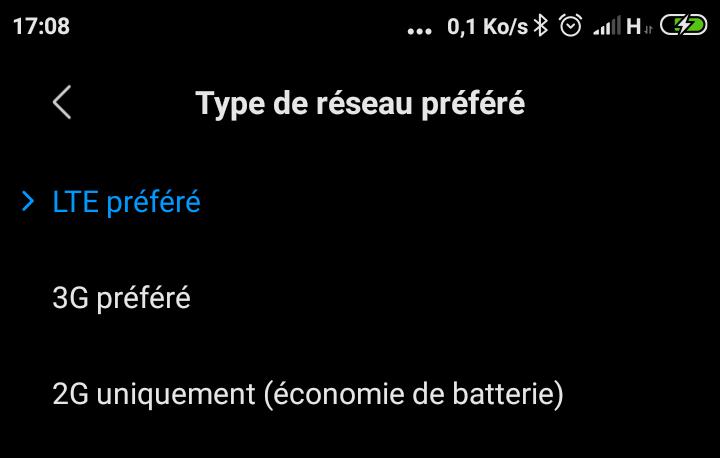 Type de reseau prefere Xiaomi Comment Forcer le Réseau 4G sur Les Smartphones Android