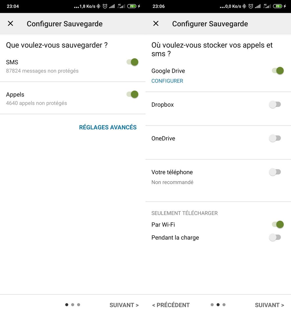 Configuration SMS Backup Comment Sauvegarder et Restaurer ses SMS sur Android sur Google Drive