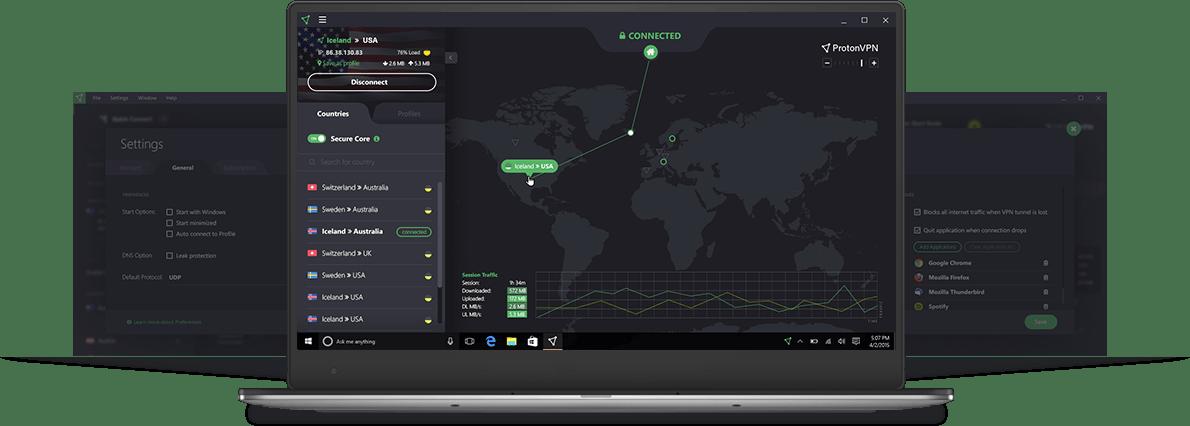 ProtonVPN Les Meilleurs VPN Gratuits Illimité pour Windows 10 en 2020