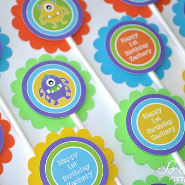 Monster Birthday Cupcake Toppers Monsters Aliens Boys 1st Birthday Decorations Party Decorations Kids Birthday Party Ideas Set Of 12 So Sweet Party Shop