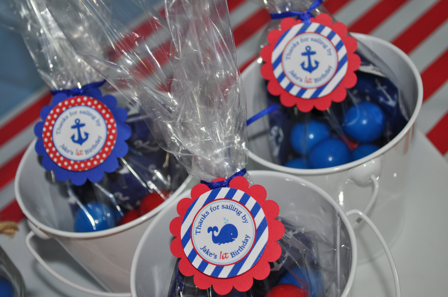 Nautical 1st Birthday Favor Tags Party Favors Boys 1st Birthday Decorations Nautical Party Favors Whales And Anchors Set Of 12 So Sweet Party Shop