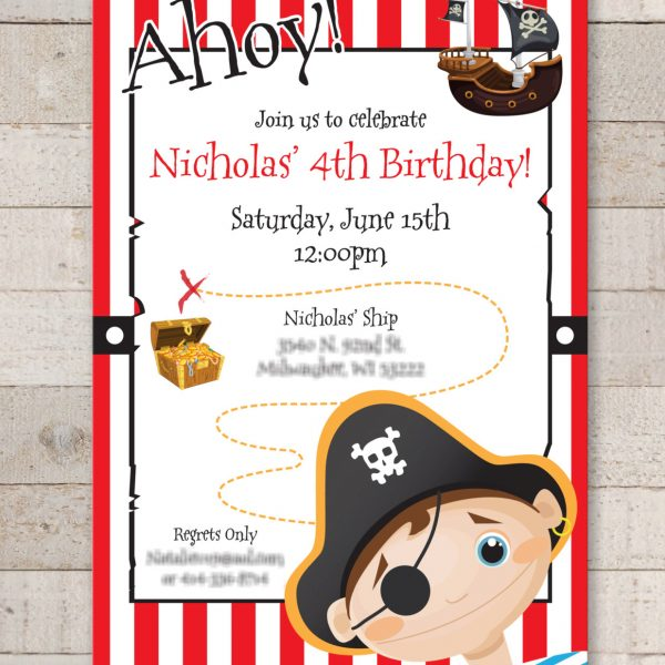 pirate invitations boys pirate birthday party decorations kids pirate party invitations set of 10