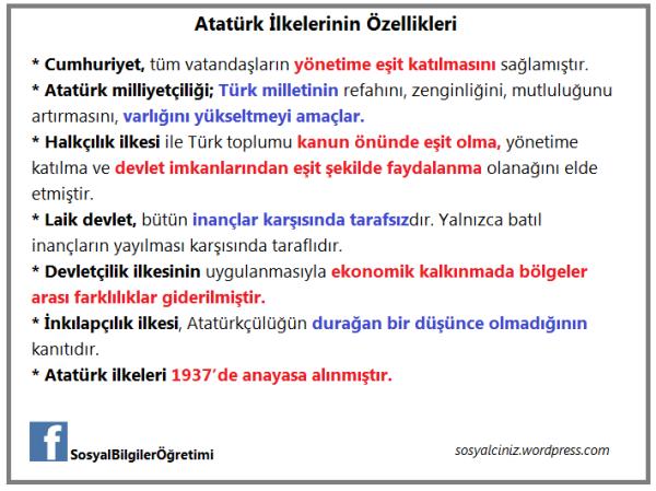 Atatürk ilke özellik