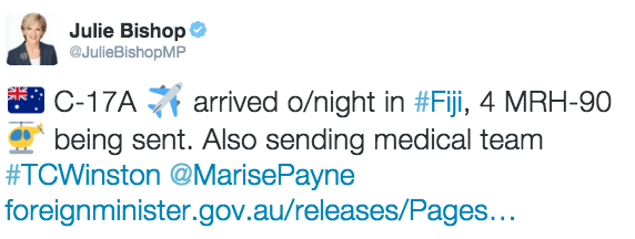 Emoji-Julie-Bishop-Tweet