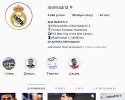 Instagram'da 100 Milyon Takipçiye Ulaşan İlk Spor Kulübü Real Madrid Oldu