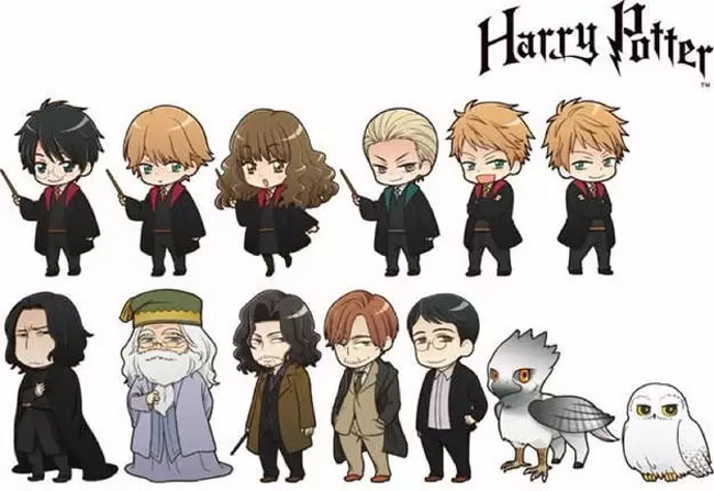 Anime Versions of Harry Potter Characters are Everything You Hope Them to Be