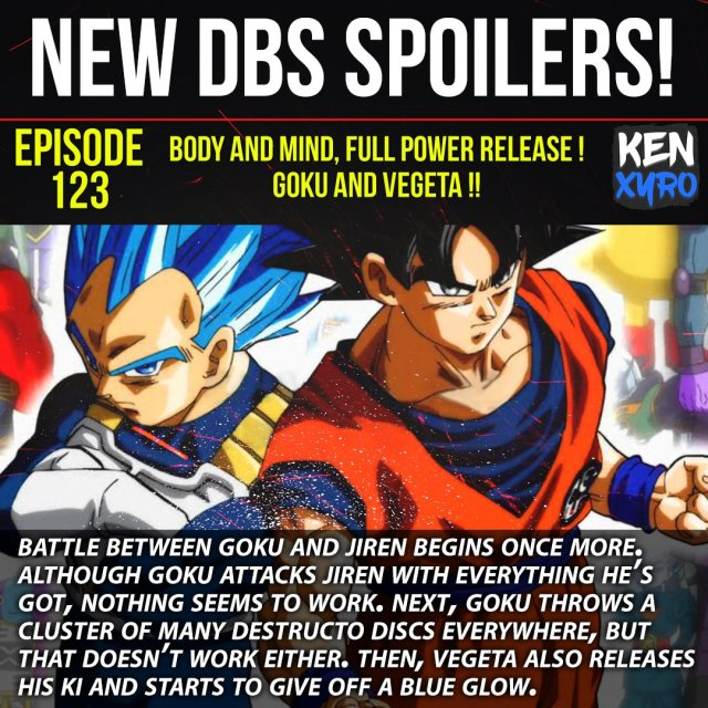 Dragon Ball Super Episode 123,124,125,126 Detailed Spoilers