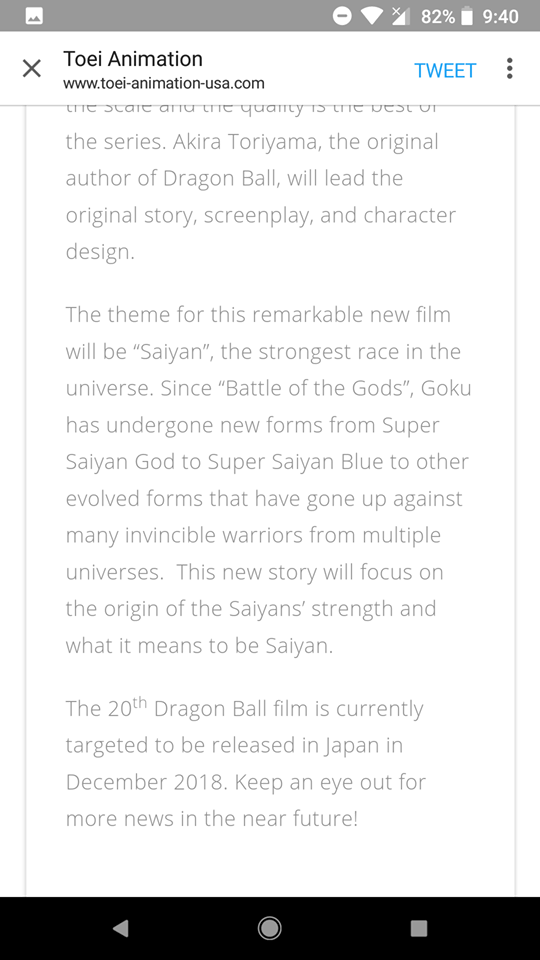 Dragon Ball Super Movie 2018 details to be released in March