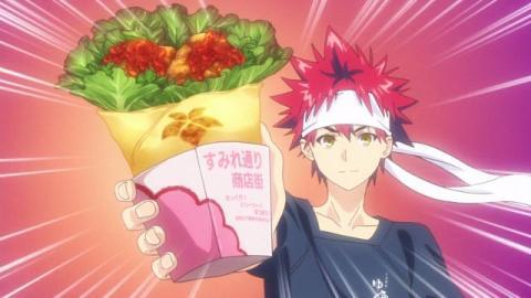 food wars anime food