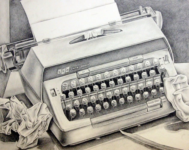 typewriter-drawing