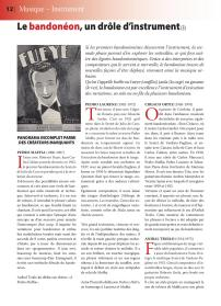 Article sur le bandonéon (3) paru dans la revue Tout Tango n° 11 Avril-Mai-Juin 2007 - 1ère page