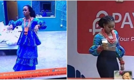 Cee C in Big Brother Naija house