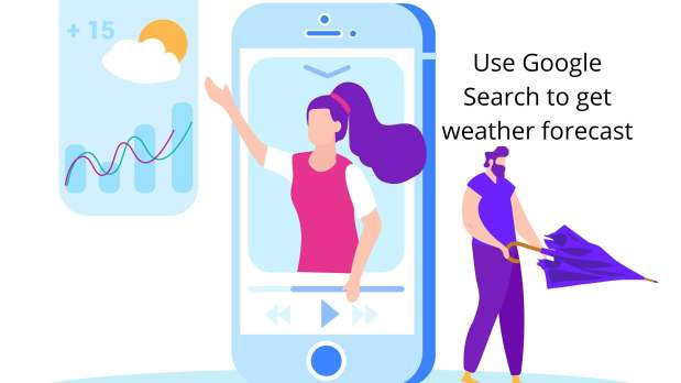 get weather updates using Google search