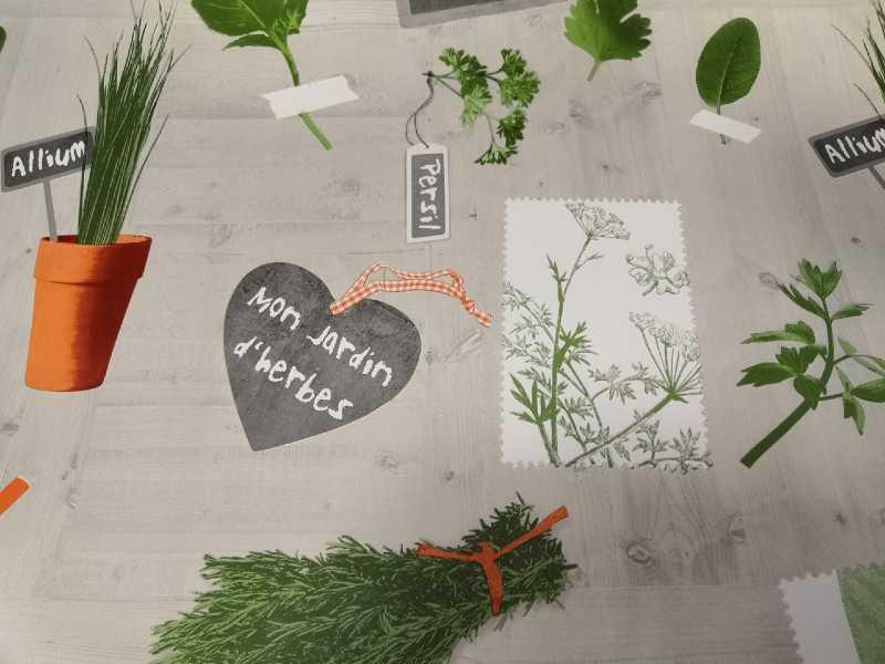Fűszer növényes viaszos vászon