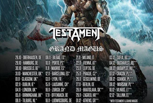 AMON AMARTH Announces European Tour With TESTAMENT, BEHEMOTH, GRAND MAGUS