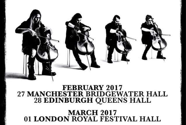 APOCALYPTICA Celebrates 20th Anniversary Of 'Plays Metallica By Four Cellos' With Exclusive U.K. Shows