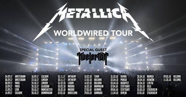 METALLICA Announces European Leg Of 'WorldWired' Tour