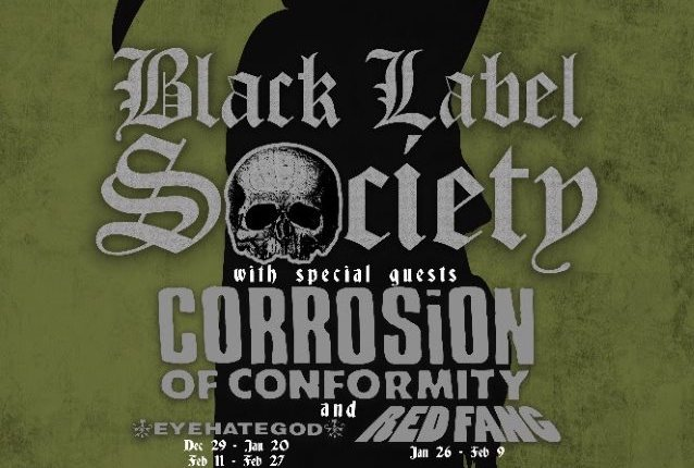 BLACK LABEL SOCIETY Announces North American Tour With CORROSION OF CONFORMITY; BLABBERMOUTH.NET Presale