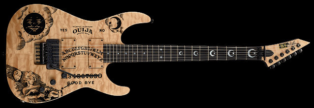 METALLICA: ESP Introduces Limited-Edition ESP And LTD Kirk Hammett KH Ouija Natural Guitars