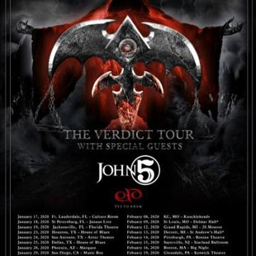 QUEENSRŸCHE Announces U.S. Headline Tour With Support From JOHN 5 And EVE TO ADAM