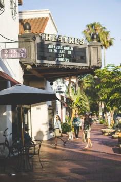 Walking up State Street in Downtown Santa Barbara