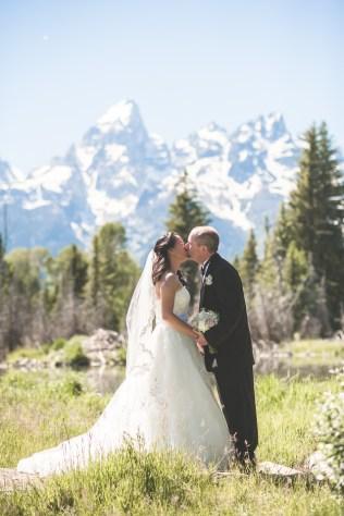 Bramblett Wedding Grand Tetons mountains panorama