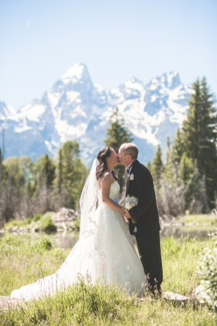 Bramblett Wedding Grand Tetons mountains panorama