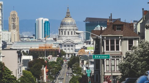 San Francisco City Hall as seen from Alamo Square