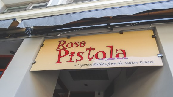 North Beach restaurant Rose Pistola on Columbus Avenue
