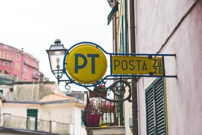 Italian Post Office in Cinque Terre