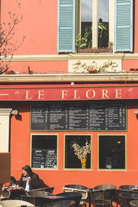 Cafe Le Flore in Nice, France