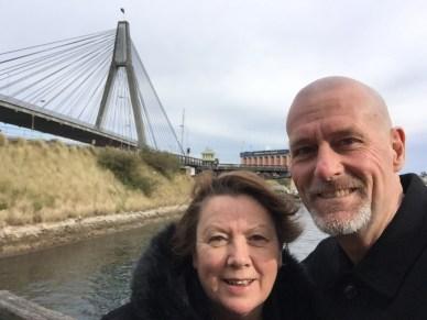 ANZAC Bridge, where the old Glebe Island Bridge is/was.