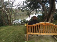 Great place to sit and be quiet. Overlooking the river