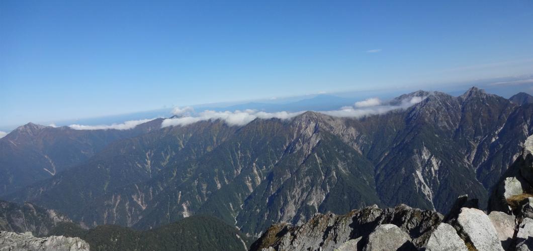 雄山山頂からの景色