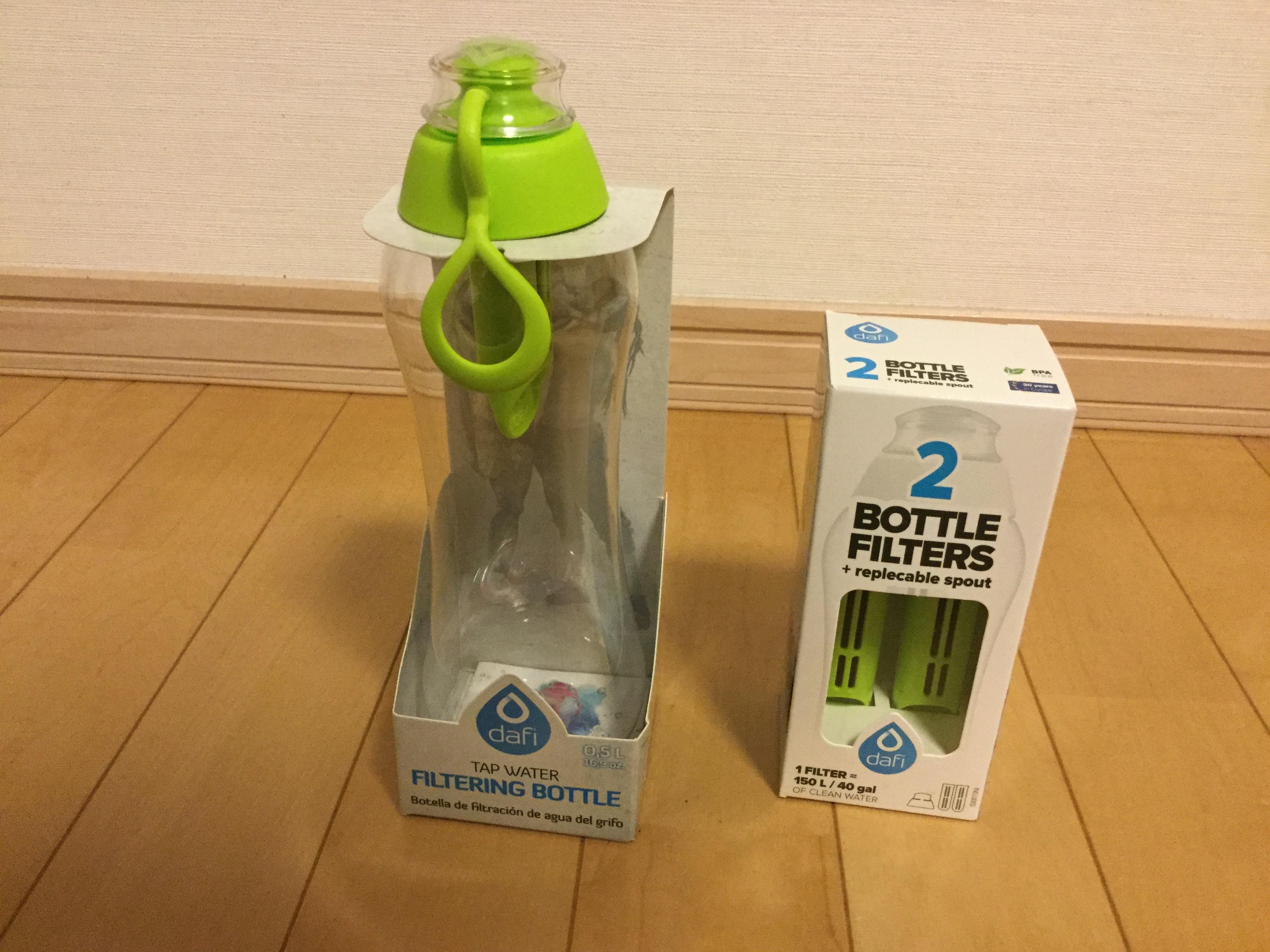 キャンプに浄水ボトルを導入してる!DAFI浄水ボトル!